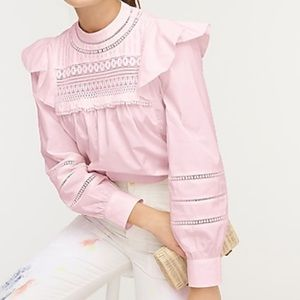 NWT J.Crew Crocheted Lace Ruffle Top